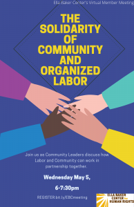 The Solidarity of Community and Organized Labor @ Online